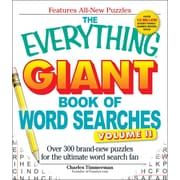The Everything Giant Book of Word Searches, Volume 2: Over 300 Brand-New Puzzles for the Ultimate Word Search Fan