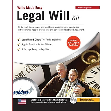 Legal Will Kit [With CDROM]
