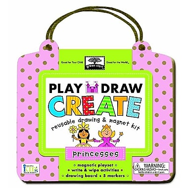 Greenstart Play, Draw, Create Princess: Reusable Drawing & Magnet Kit