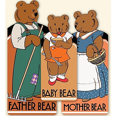 The Bear Family: 3 Shaped Books; Baby Bear/Mother Bear/Father Bear