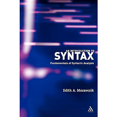 An Introduction to Syntax: Fundamentals of Syntactic Analysis