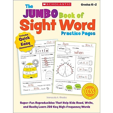 The Jumbo Book of Sight Word Practice Pages: Gr s K-2