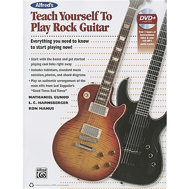 Alfred's Teach Yourself Rock Guitar: Everything You Need to Know to Start Playing Now! [With DVD ROM]