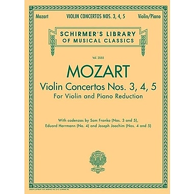Violin Concertos Nos. 3, 4, 5: For Violin and Piano Reduction