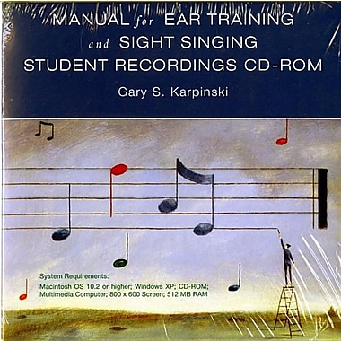 Manual for Ear Training and Short Singing Student Recordings CD-ROM