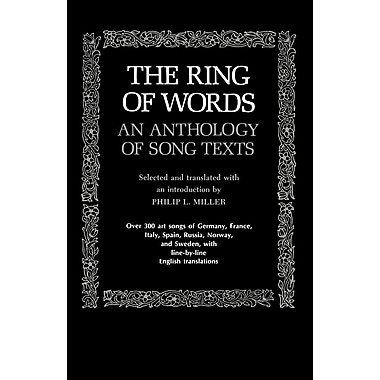 The Ring of Words: An Anthology of Song Texts