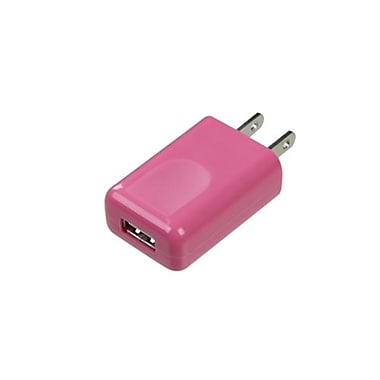 Insten® 1A Square USB Travel Charger, Pink