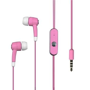 Insten® 10mW In-Ear Stereo Handsfree Headset, Pink
