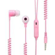 Insten® 10mW Stereo Handsfree Headset With Slingshot Cable, Pink