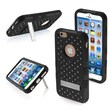 Insten® Hybrid Phone Protector Cover For iPhone 6, Natural Black/Black TUFF
