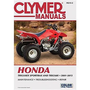 Clymer Manuals Honda: TRX250EX, SPORTRAX/TRX250X 2001-2012