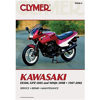 Kawasaki Ex500, Gpz500s and Nina 500r 1987-2002