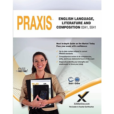 Praxis English Language, Literature and Composition 0041, 5041 Book and Online