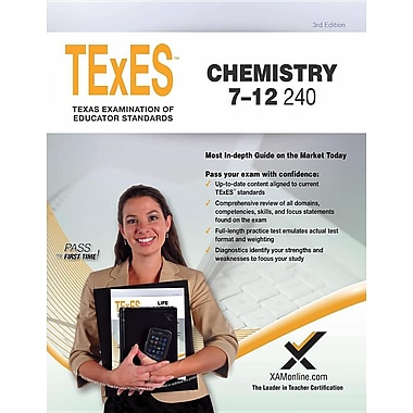Texes Chemistry 7-12 240 Teacher Certification Study Guide Test Prep