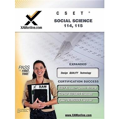 CSET Social Science 114-115 Teacher Certification Exam