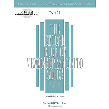 The Second Book of Mezzo-Soprano Solos Part II: Book/2 CDs Pack
