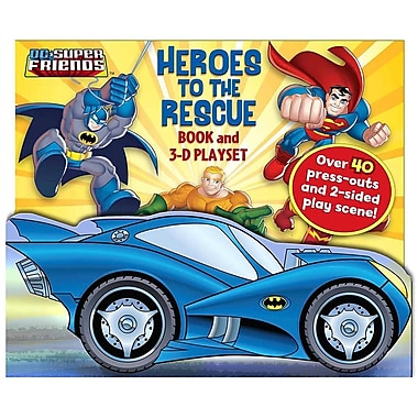 DC Super Friends Heroes to the Rescue: Book and 3-D Playset