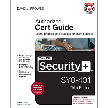Comptia Security+ SY0-401 Authorized Cert Guide, Deluxe Edition [With CDROM]