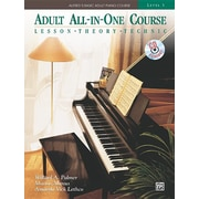 Alfred's Basic Adult All-In-One Course, Bk 3: Lesson * Theory * Technic, Comb Bound Book & CD