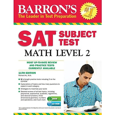 Barron's SAT Subject Test Math Level 2 , 11th Edition [With CDROM]