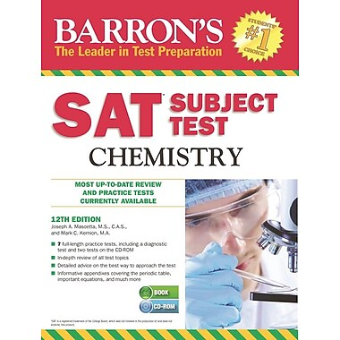 Barron's SAT Subject Test Chemistry , 12th Edition [With CDROM]