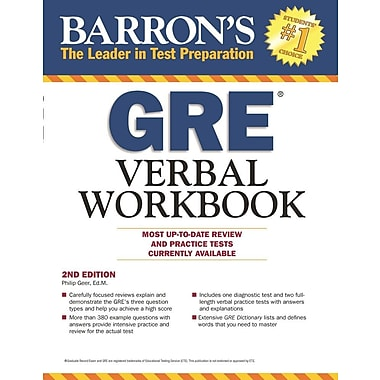 Barron's GRE Verbal Workbook, 2nd Edition