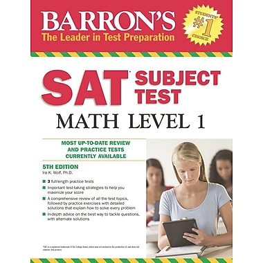 Barron's SAT Subject Test Math Level 1, 5th Edition