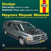Haynes Dodge Durango & Dakota Pick-Ups Automotive Repair Manual