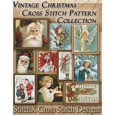 Vintage Christmas Cross Stitch Pattern Collection: Black & White Charts
