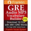 Franklin GRE Audio MP3 Vocabulary Builder: Download 19 CDs with 3861 GRE Words for High GRE Verbal Score