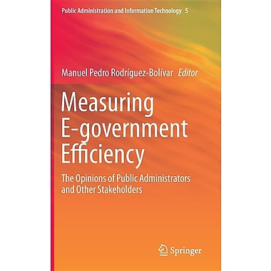 Measuring E-Government Efficiency: The Opinions of Public Administrators and Other Stakeholders