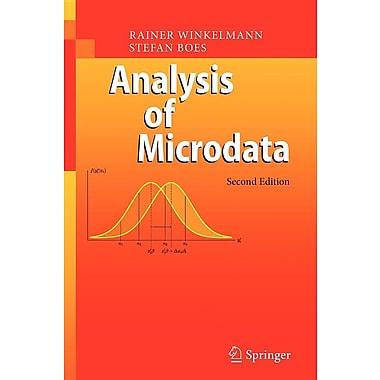 Analysis of Microdata