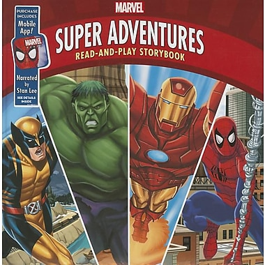 Marvel Super Adventures: Read-And-Play Storybook: Purchase Includes Mobile App for iPhone and iPad! Narrated by Stan Lee