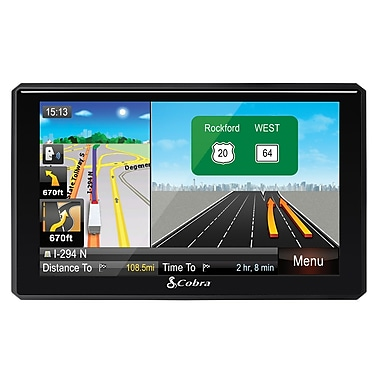Cobra 8200 PRO HD 7 Navigation with Live Traffic and Lifetime Map Updates