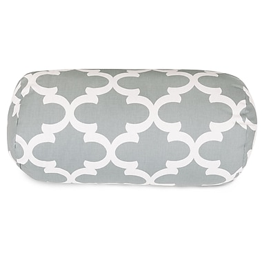 Majestic Home Goods Trellis Round Cotton Bolster Pillow