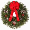Fraser Fir Direct Fresh Fraser Fir Wreath - The ''Traditional'' -  24'' -26'' (diam.)