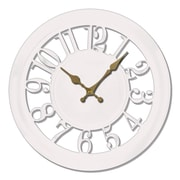 Ashton Sutton 11'' Quartz Analog Wall Clock; White