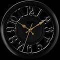 Ashton Sutton 11'' Quartz Analog Wall Clock; Black