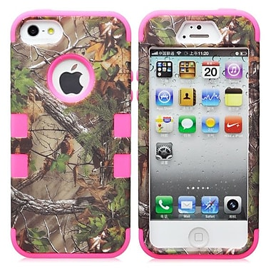 IPM Camouflage RealTree Rugged Protective Case for iPhone 5/5s, Hot Pink
