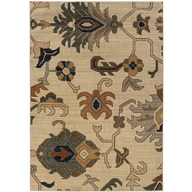 StyleHaven Tribal Ivory/ Grey Indoor Machine-made Nylon Area Rug (5'3