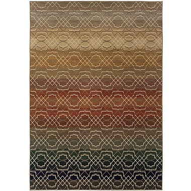 StyleHaven Geometric Ombre Grey/ Multi Indoor Machine-made Nylon Area Rug (6'7