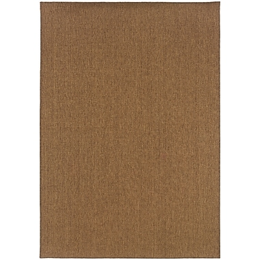 StyleHaven - Solid Tan/ Indoor/Outdoor Machine-Made Polypropylene Area Rug (6'7