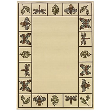 StyleHaven Botanical Ivory/ Brown Indoor/Outdoor Machine-made Polypropylene Area Rug (5'3