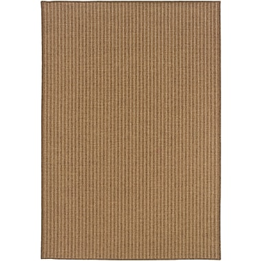 StyleHaven Stripe Tan/ Light Tan Indoor/Outdoor Machine-made Polypropylene Area Rug (5'3