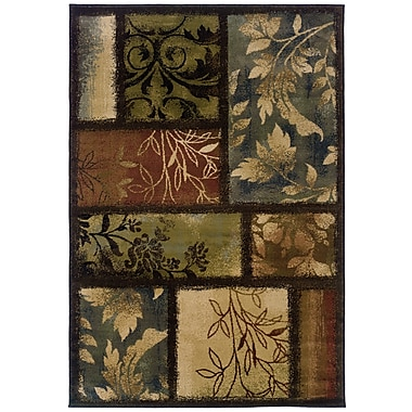 StyleHaven Geometric Brown/ Brown Indoor Machine-made Polypropylene Area Rug (3'10