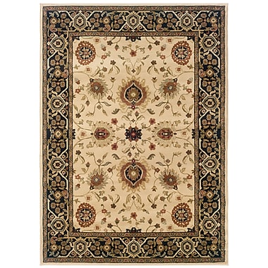 StyleHaven Oriental Beige/ Black Indoor Machine-made Polypropylene Area Rug (6'7