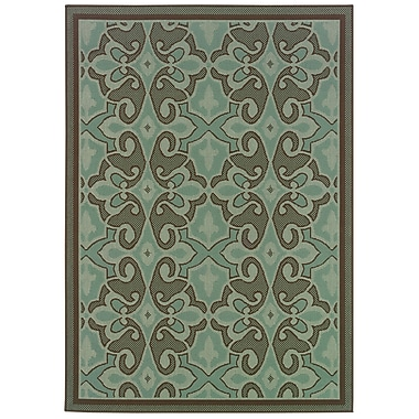 StyleHaven Oriental Blue/ Brown Indoor/Outdoor Machine-made Polypropylene Area Rug (3'7