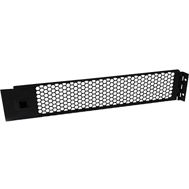 StarTech RKPNLHV2U 2U Hinged and Vented Blank Rack Panel, Black