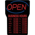 Royal Sovereign® LED Fluorescent Open Sign With Business Hours