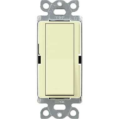 Lutron Diva CA-1PSNL-AL Single Pole Switch with Locator Light, Almond